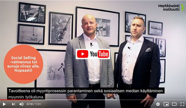 Social selling-valmennus Lavonialle, katso video.
